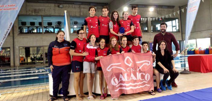 El equipo alevín del CN Galaico, cuarto en la Liga Galega