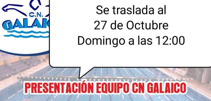 La presentación de los equipos del CN Galaico se traslada al domingo día 27