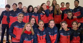 Ocho medallas para el Galaico en el Campionato Galego Alevín de Inverno